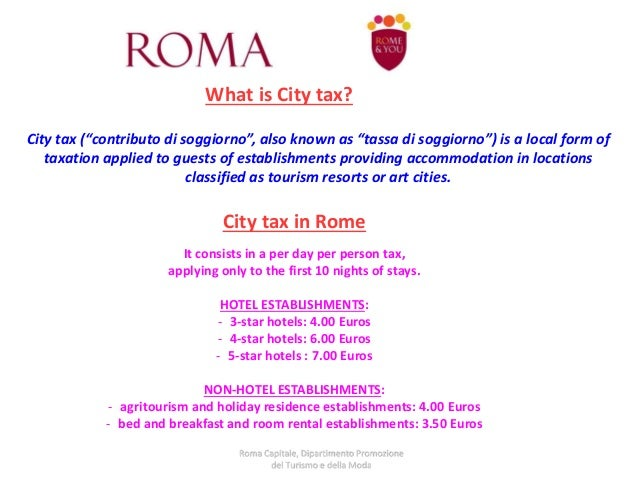 Tourism Departement Roma Capitale May 13, 2015