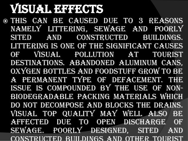 causes of visual pollution