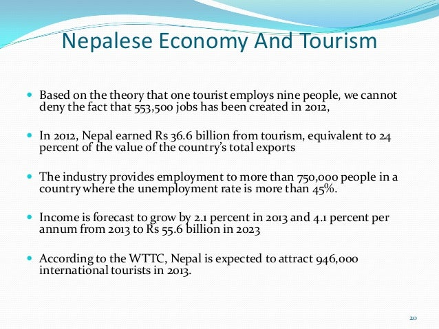 Tourism and nepalese economy