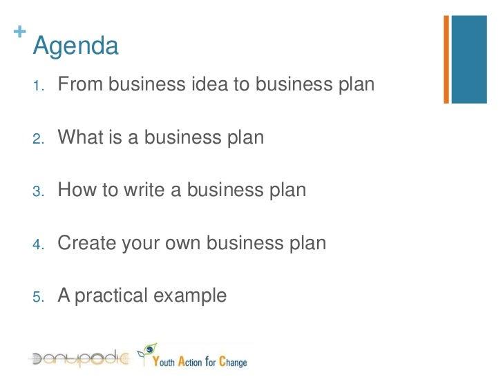 business plan workshop agenda