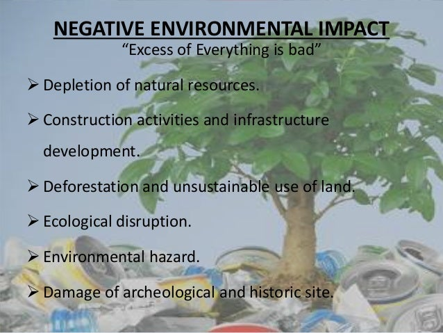the environmental impact of tourism Full-text (pdf) | assessment of environmental impacts of tourism – issues, options and tools.