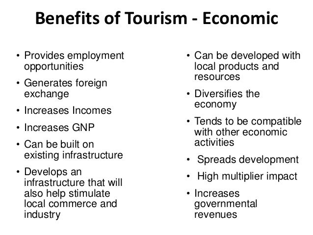 advantages for tourism