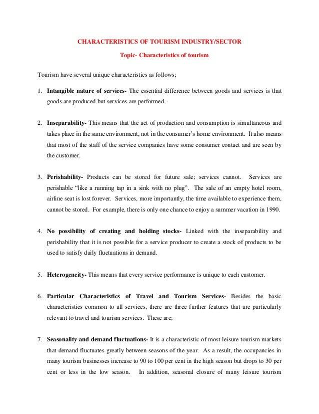 tourism essay topics
