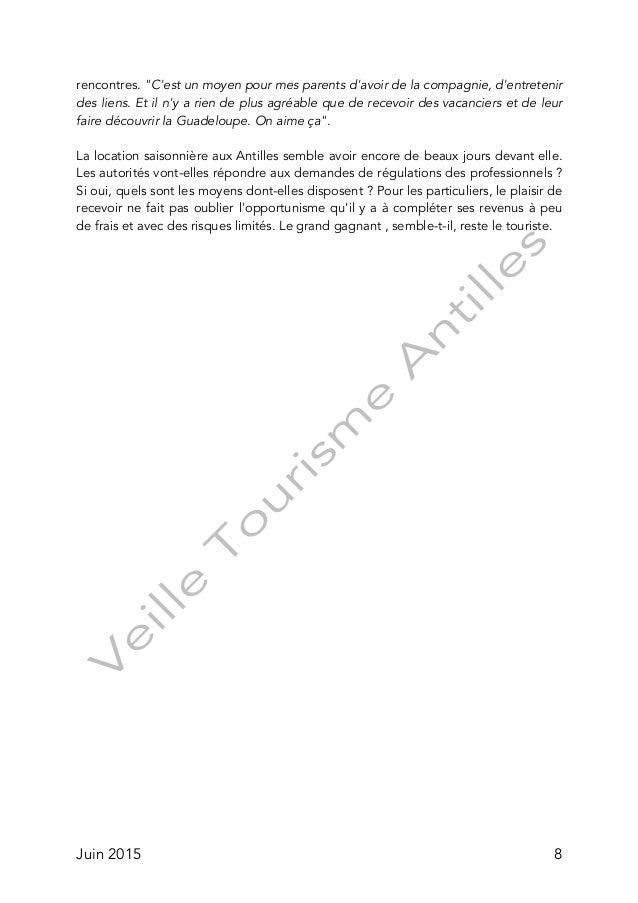 Tourisme chez l 39 habitant aux antilles fran aises - Declaration revenus location meuble de tourisme ...