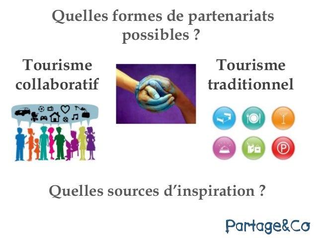 Tourisme collaboratif Quelles formes de partenariats possibles ? Tourisme traditionnel Quelles sources d'inspiration ?