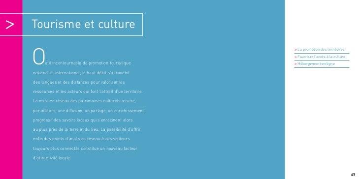 Tourisme et culture                                                                > La promotion des territoiresO     uti...