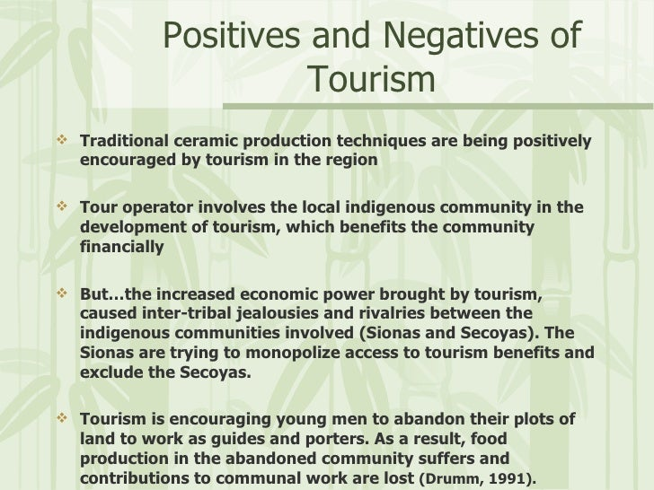the negative impacts of tourism industry tourism essay Negative impact of tourism on  as karl g and peter n state in an essay on the negative impacts of the  when tourism industry is doing harm to.