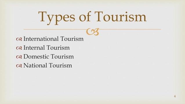  International Tourism  Internal Tourism  Domestic Tourism  National Tourism Types of Tourism 4