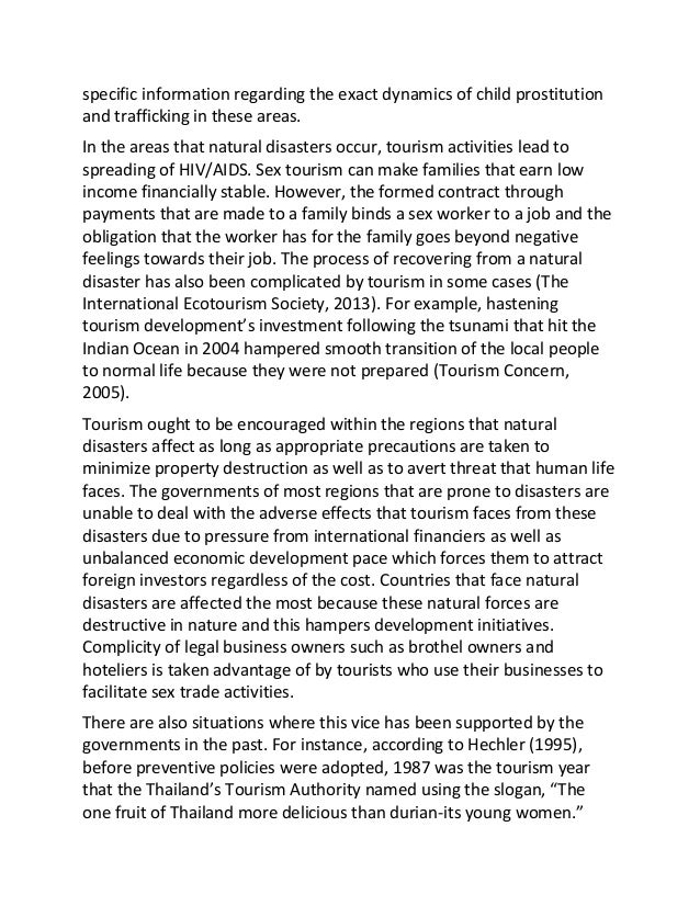 tourism in natural disaster affected regions sample essay 3 specific