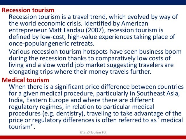 tourism recession Impacts of the world recession and economic crisis on tourism: north america (istock) by rozanne larsen.