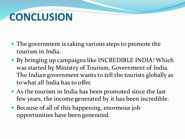 essay on promotion of tourism in india