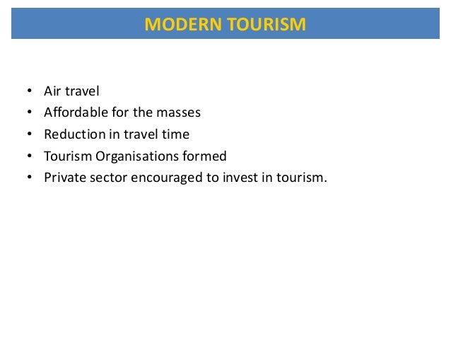 contemporary tourism definition