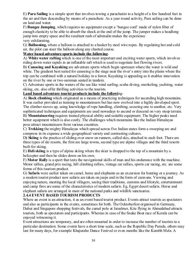 essay concerning pursuit tourism