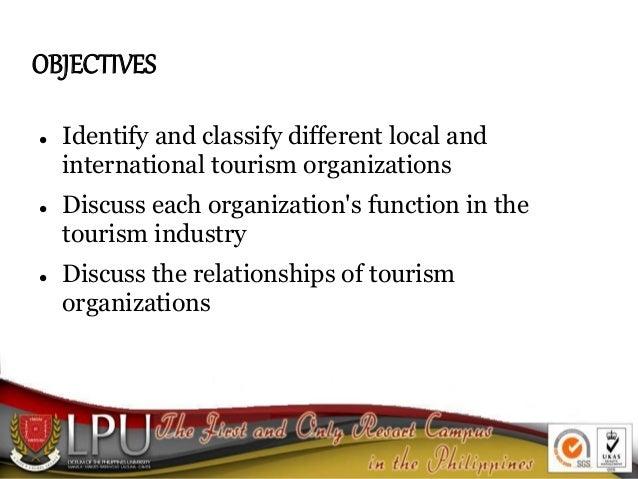 Tourism Organizations Slide 2