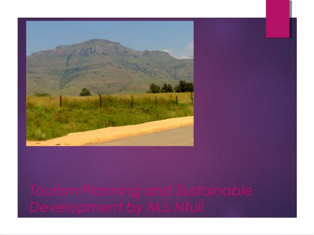 Tourism Planning and Sustainable Development by M.L Ntuli