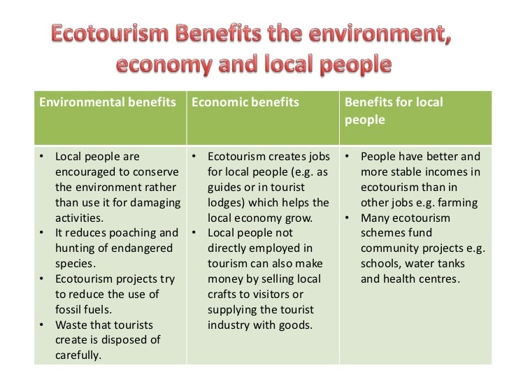 ecotourism kenya impacts environment people and economy The positive and negative impacts of ecotourism on african that benefits from ecotourism the local economy does used for ecotourism in kenya.