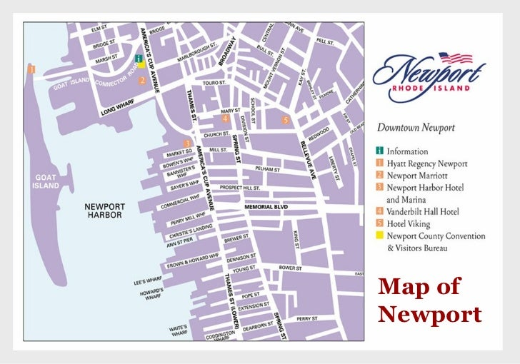 Newport RI Tourism ppt – Rhode Island Tourist Attractions Map