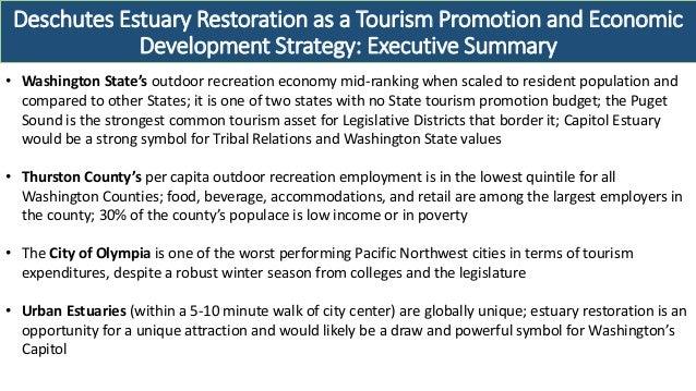 Deschutes Estuary Restoration as a Tourism Promotion and Economic Development Strategy: Executive Summary • Washington Sta...