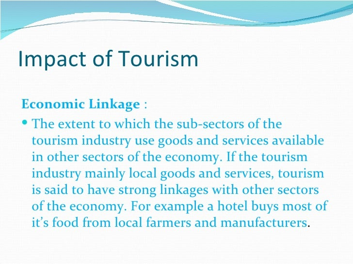 impact of tourism in the caribbean essay Viii festival tourism in the caribbean: an economic impact assessment prepared by: dr keith nurse institute of international relations, university of.