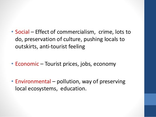 positive and negative effect of tourism essay