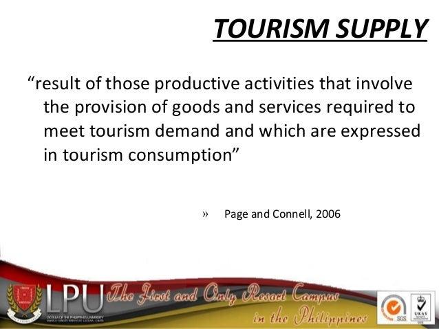 tourism demand and supply pdf