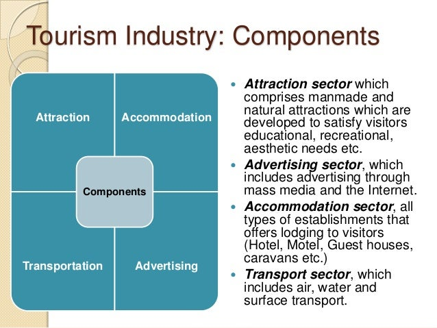 tourism components and supply essay Zambia, a large proportion of the tourism industry's supply requirements are  as  an example, one of the major cost components for a tourism investor is con.