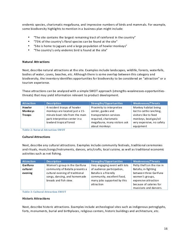 sustainable tourism toolkit business planning rh slideshare net Sample of Good Business Plan Business Plan Caratula
