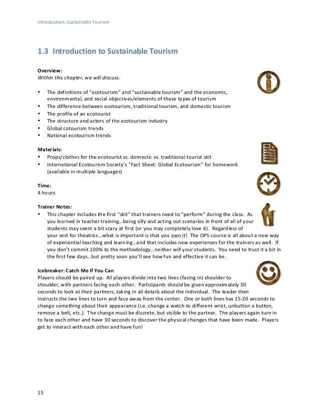 Ecotourism Statistical Fact Sheet Essay