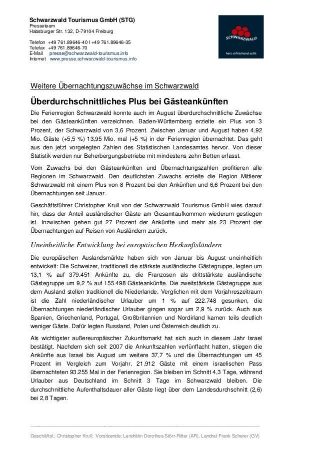 Schwarzwald Tourismus GmbH (STG)PresseteamHabsburger Str. 132, D-79104 FreiburgTelefon    +49 761.89646-40 I +49 761.89646...