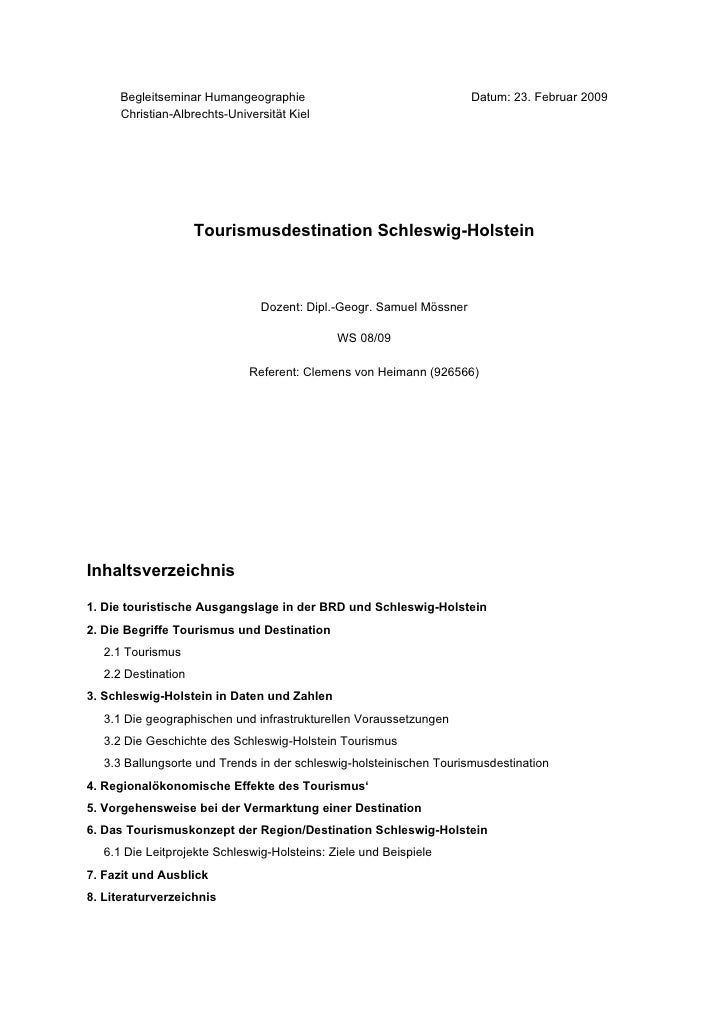 Begleitseminar Humangeographie                                  Datum: 23. Februar 2009      Christian-Albrechts-Universit...