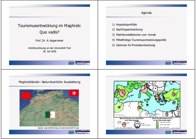 Agenda  Quo vadis? Prof. Dr. A. Kagermeier Antrittsvorlesung an der Universität Trier 26. Juli 2006  1) Angebotsportfolio ...