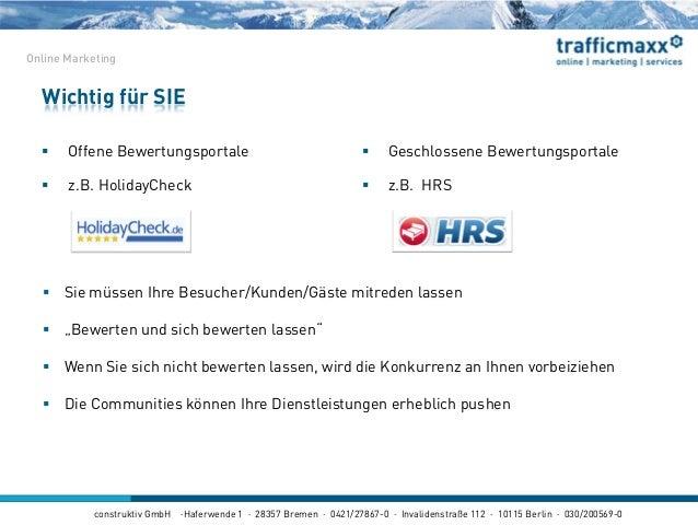 construktiv GmbH ·Haferwende 1 · 28357 Bremen · 0421/27867-0 · Invalidenstraße 112 · 10115 Berlin · 030/200569-0  Offene ...