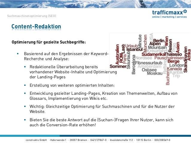 construktiv GmbH ·Haferwende 1 · 28357 Bremen · 0421/27867-0 · Invalidenstraße 112 · 10115 Berlin · 030/200569-0 Optimieru...