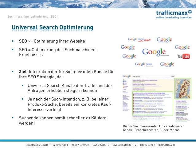 construktiv GmbH ·Haferwende 1 · 28357 Bremen · 0421/27867-0 · Invalidenstraße 112 · 10115 Berlin · 030/200569-0  SEO >= ...