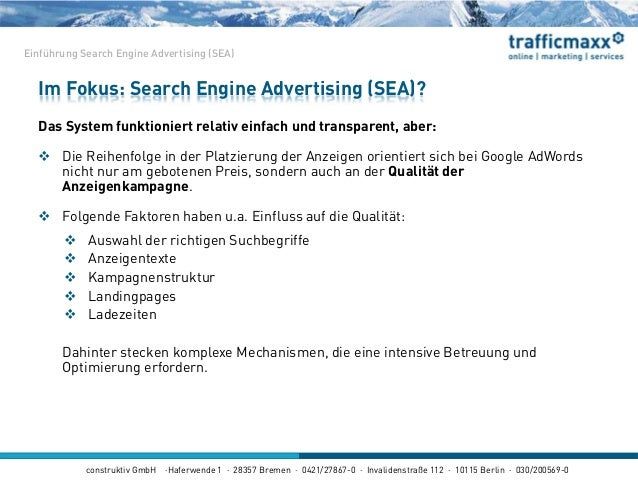construktiv GmbH ·Haferwende 1 · 28357 Bremen · 0421/27867-0 · Invalidenstraße 112 · 10115 Berlin · 030/200569-0 Das Syste...