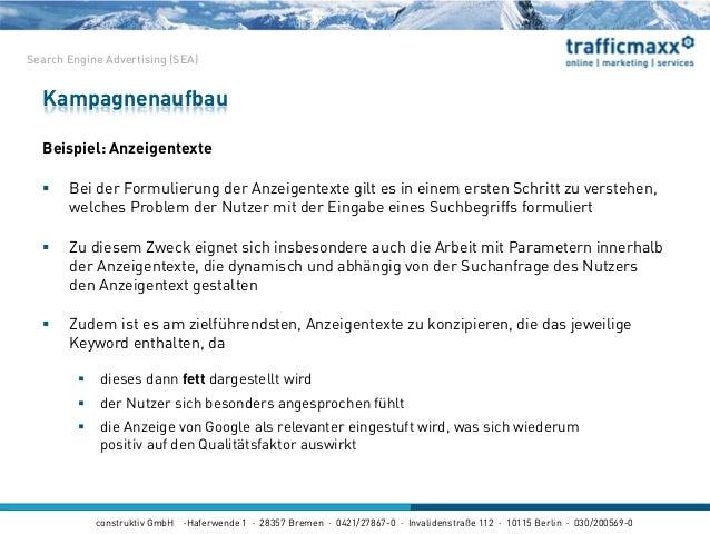 construktiv GmbH ·Haferwende 1 · 28357 Bremen · 0421/27867-0 · Invalidenstraße 112 · 10115 Berlin · 030/200569-0 Beispiel:...