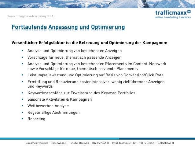 construktiv GmbH ·Haferwende 1 · 28357 Bremen · 0421/27867-0 · Invalidenstraße 112 · 10115 Berlin · 030/200569-0 Fortlaufe...