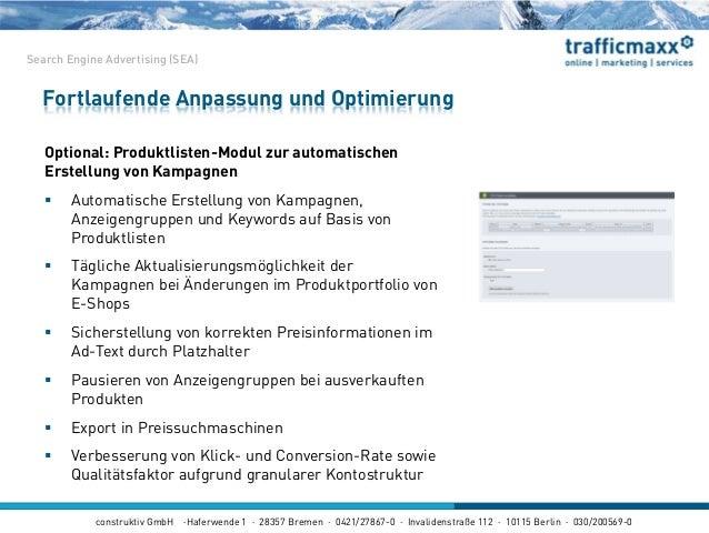 construktiv GmbH ·Haferwende 1 · 28357 Bremen · 0421/27867-0 · Invalidenstraße 112 · 10115 Berlin · 030/200569-0 Optional:...