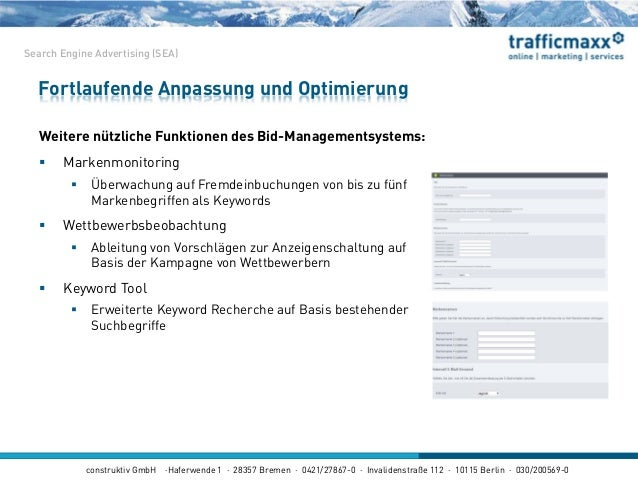 construktiv GmbH ·Haferwende 1 · 28357 Bremen · 0421/27867-0 · Invalidenstraße 112 · 10115 Berlin · 030/200569-0 Weitere n...