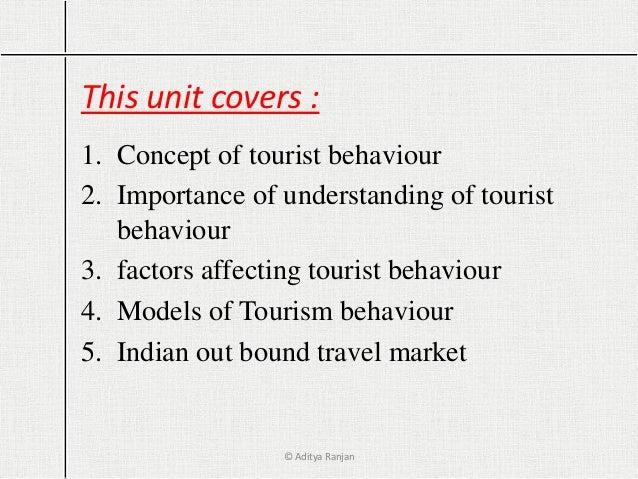 Aspects of Tourist Behavior