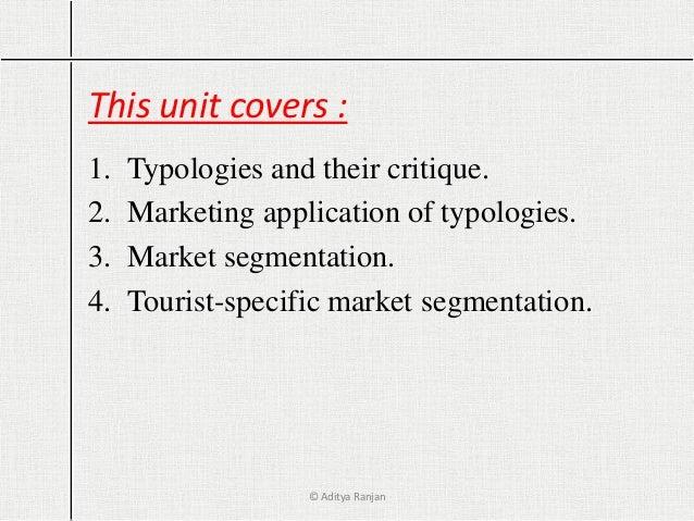 tourist typologies