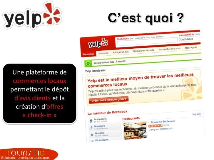 Yelp - optimiser sa fiche pour un professionnel du tourisme avec Touristic Slide 2