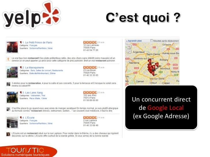 Yelp - optimiser sa fiche pour un professionnel du tourisme avec Touristic Slide 3