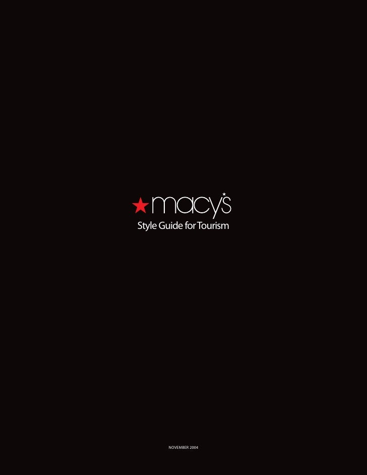 Style Guide for Tourism            NOVEMBER 2004