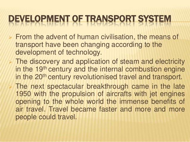 development in transportation essay