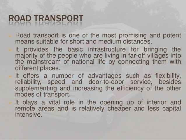 Essay on land transport