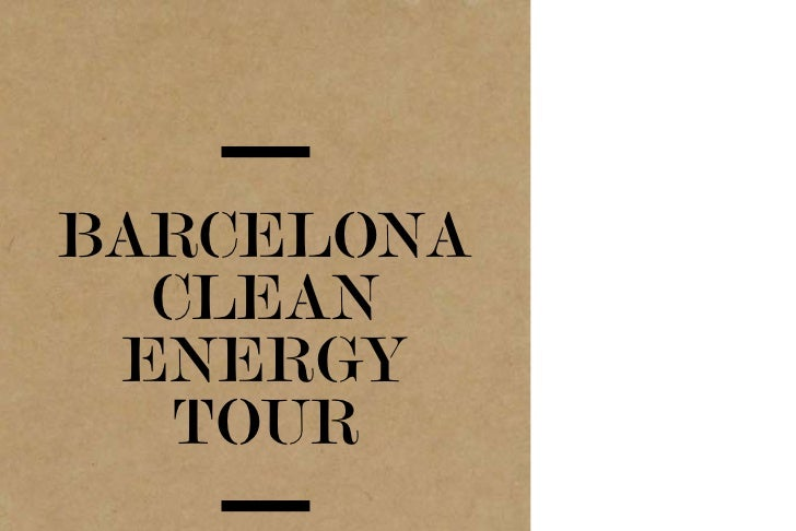 BARCELONA  CLEAN ENERGY  TOUR