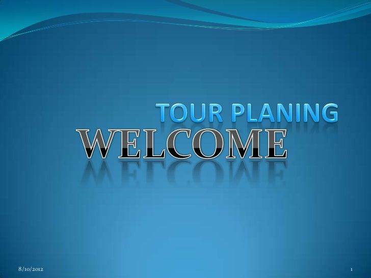 tour plan