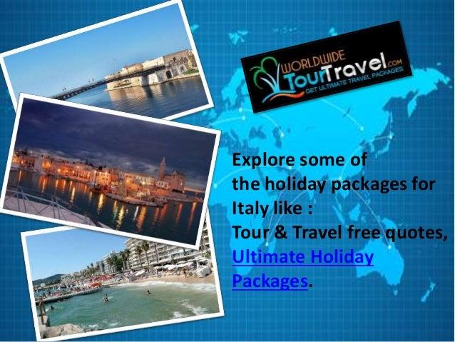 Tour Travel Free Quotes