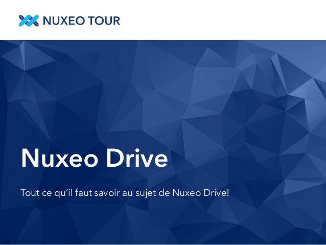 Nuxeo Drive  Tout ce qu'il faut savoir au sujet de Nuxeo Drive!